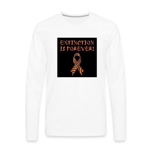 Extinction is Forever awarness logo - Men's Premium Long Sleeve T-Shirt