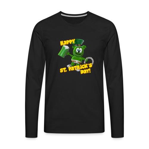 Gummibär (The Gummy Bear) Saint Patrick's Day - Men's Premium Long Sleeve T-Shirt