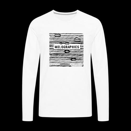 MELOGRAPHICS   Blackout Poem - Men's Premium Long Sleeve T-Shirt