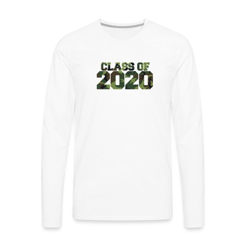 Class of 2020 Camo grad logo - Men's Premium Long Sleeve T-Shirt