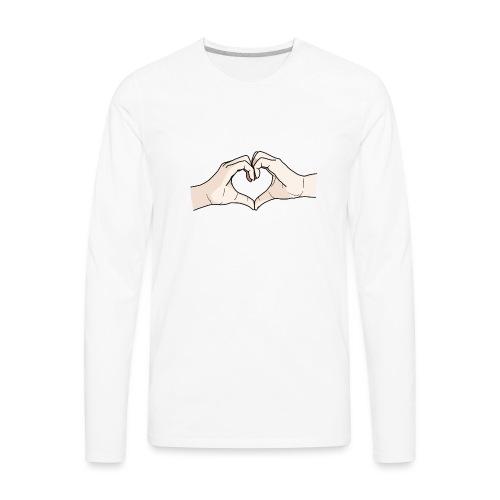 Heart Hands - Men's Premium Long Sleeve T-Shirt