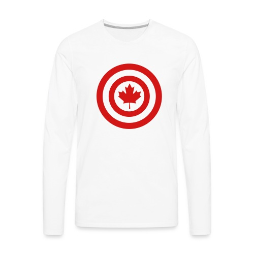 Captain Canada - Men's Premium Long Sleeve T-Shirt