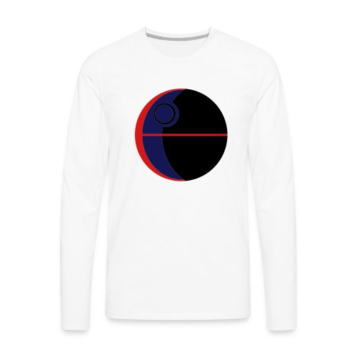 This Is Not A Moon - Men's Premium Long Sleeve T-Shirt