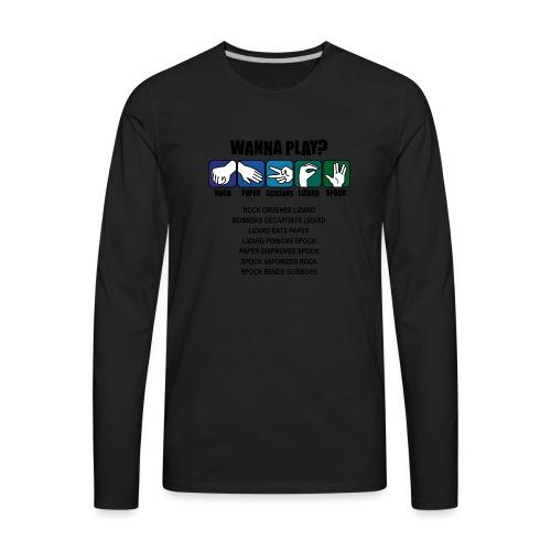 rock paper scissors lizard spock shirt - Men's Premium Long Sleeve T-Shirt