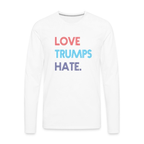 Love Trumps Hate Retro - Men's Premium Long Sleeve T-Shirt