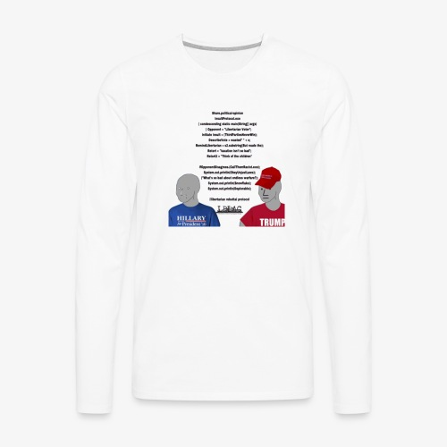 Character Who Is Not Played By A Person Meme - Men's Premium Long Sleeve T-Shirt