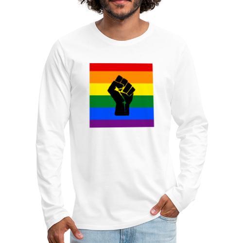 BLM Pride Rainbow Black Lives Matter - Men's Premium Long Sleeve T-Shirt