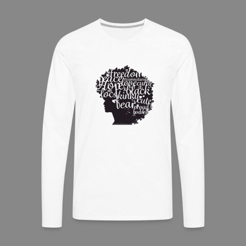 Afro Text II - Men's Premium Long Sleeve T-Shirt
