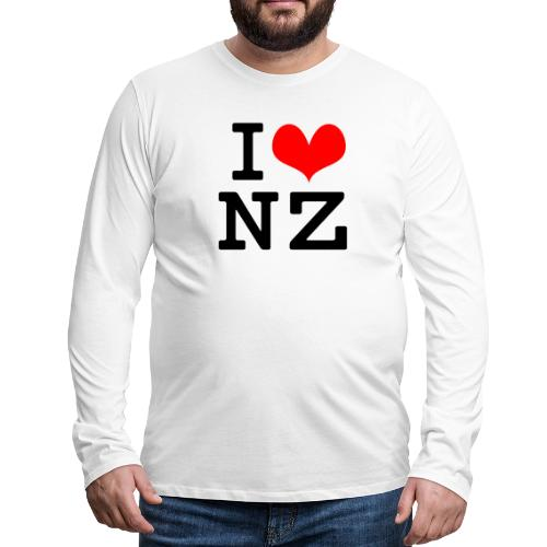 I Love NZ - Men's Premium Long Sleeve T-Shirt