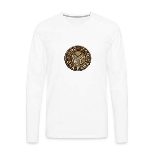 NYC Token - Men's Premium Long Sleeve T-Shirt