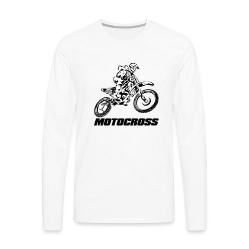 Motocross Logo Black - Men's Premium Long Sleeve T-Shirt