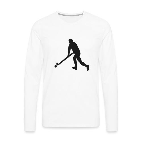 FieldHockeyMaleSilhouette - Men's Premium Long Sleeve T-Shirt