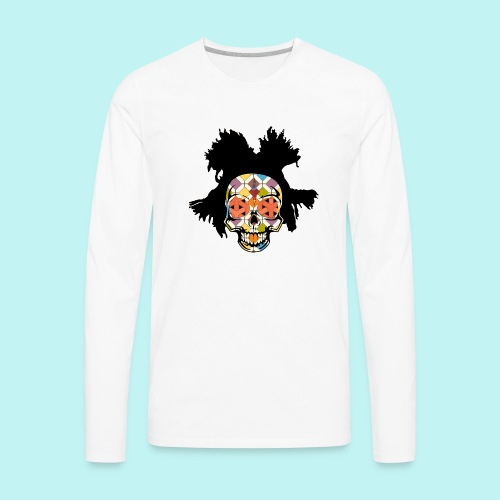 BASQUIAT SKULLY - Men's Premium Long Sleeve T-Shirt