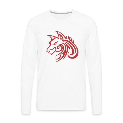 3d31c4ec40ea67a81bf38dcb3d4eeef4 wolf 1 red wolf c - Men's Premium Long Sleeve T-Shirt