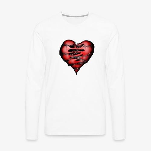 Chains Heart Ceramic Mug - Men's Premium Long Sleeve T-Shirt