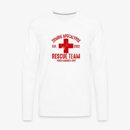 Zombie Rescue Halloween Shirt - Men's Premium Long Sleeve T-Shirt