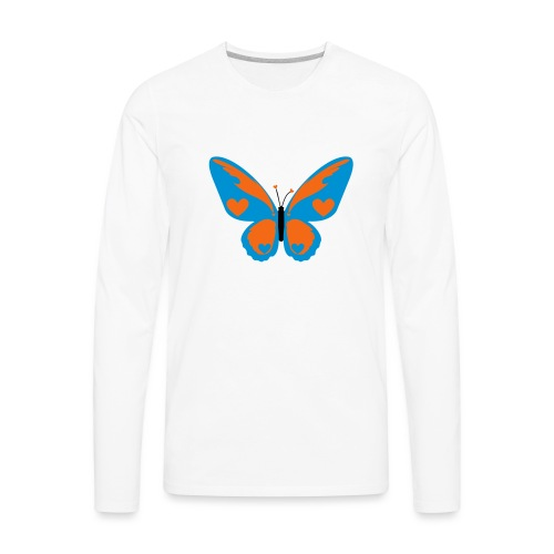 Butterfly with Love - Men's Premium Long Sleeve T-Shirt