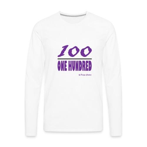 ONE HUNDRED PURPLE - Men's Premium Long Sleeve T-Shirt
