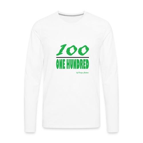 ONE HUNDRED GREEN - Men's Premium Long Sleeve T-Shirt