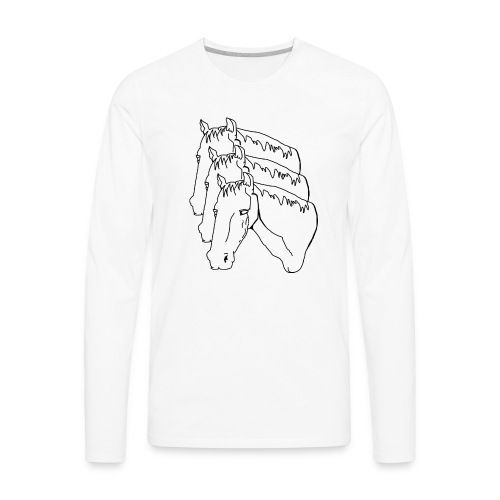 horsey pants - Men's Premium Long Sleeve T-Shirt