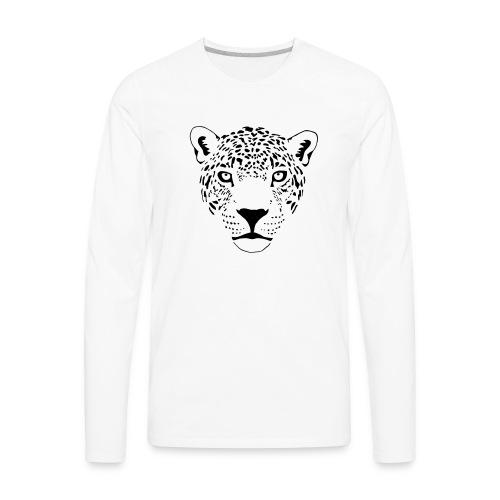 jaguar cougar cat puma panther leopard cheetah - Men's Premium Long Sleeve T-Shirt