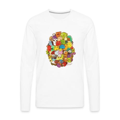 Doodle for a poodle - Men's Premium Long Sleeve T-Shirt