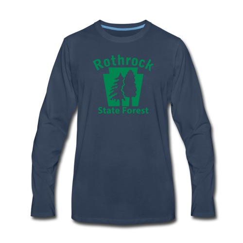 Rothrock State Forest Keystone (w/trees) - Men's Premium Long Sleeve T-Shirt