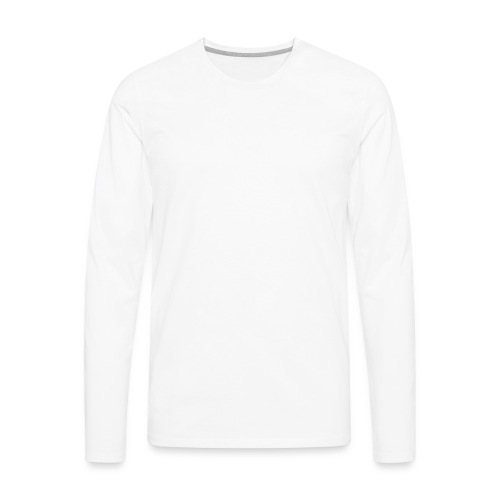 Athlete Engineers Stopwatch - White - Men's Premium Long Sleeve T-Shirt