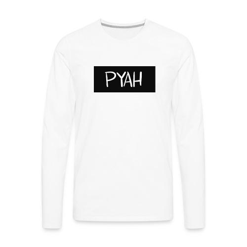 PYAH Box Logo - Men's Premium Long Sleeve T-Shirt