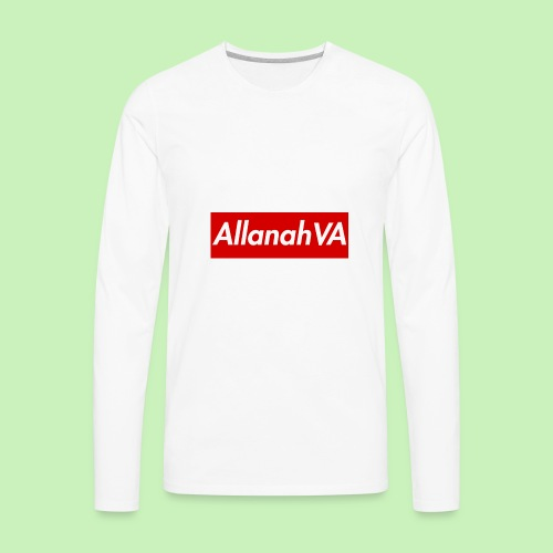 AllanahVA Supreme Red - Men's Premium Long Sleeve T-Shirt