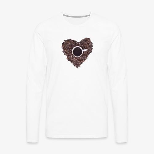 I Heart Coffee Black/White Mug - Men's Premium Long Sleeve T-Shirt