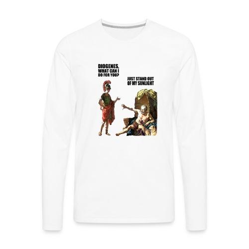 hlalexander and diogene2 black - Men's Premium Long Sleeve T-Shirt