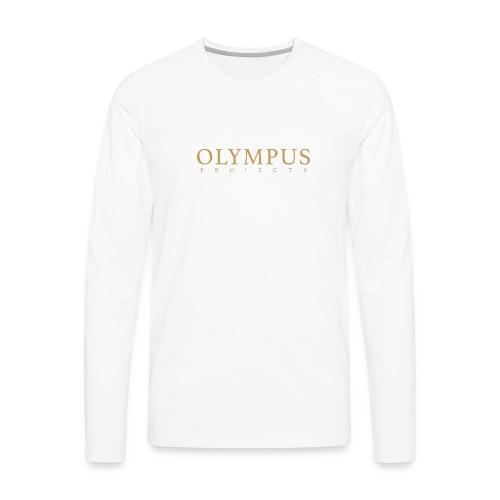 Olympus Txt Logo - Men's Premium Long Sleeve T-Shirt