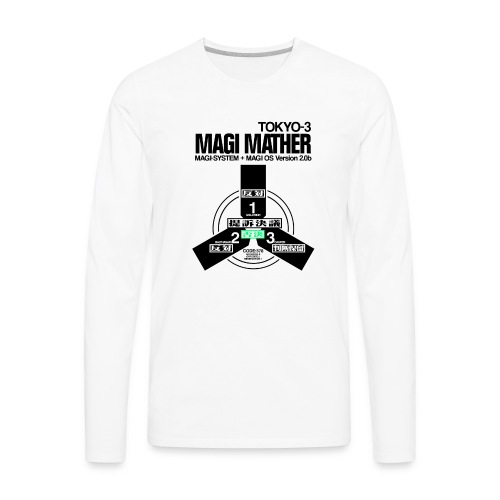 MAGI MATHER (WHITE) - Men's Premium Long Sleeve T-Shirt