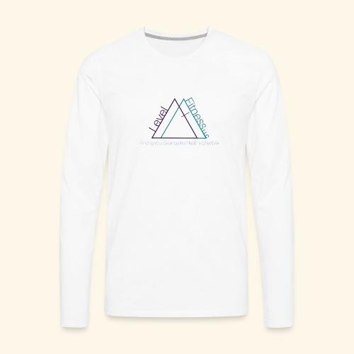 Level Fitness with Logo - Men's Premium Long Sleeve T-Shirt