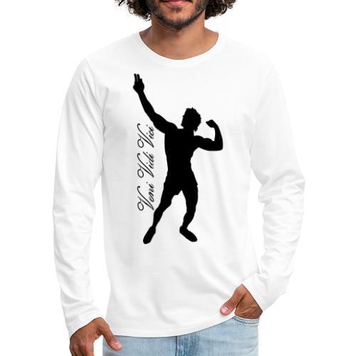Zyzz Silhouette Veni,Vidi,Vici Calli - Men's Premium Long Sleeve T-Shirt