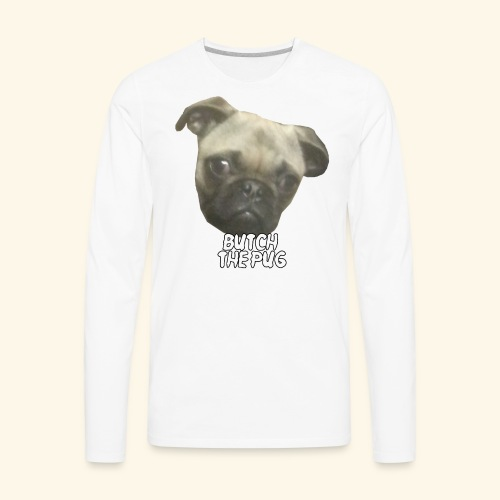 Butch The Pug - Men's Premium Long Sleeve T-Shirt