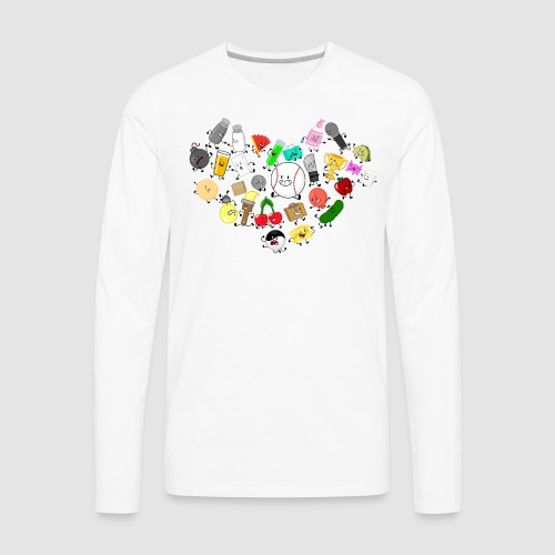 Inanimate Heart Color - Men's Premium Long Sleeve T-Shirt