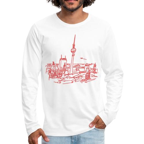 Panorama of Berlin - Men's Premium Long Sleeve T-Shirt
