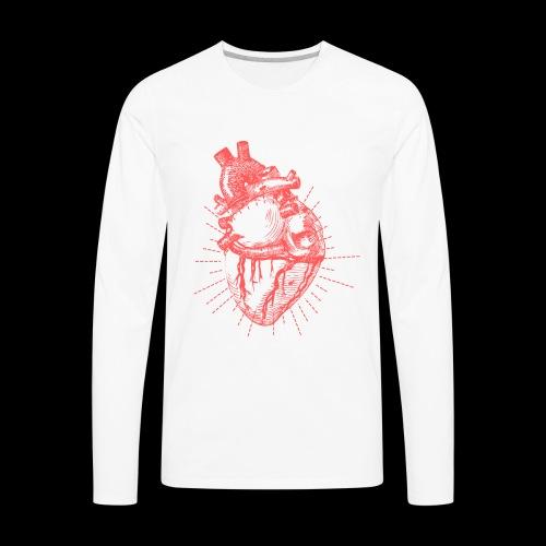 Hand Sketched Heart - Men's Premium Long Sleeve T-Shirt