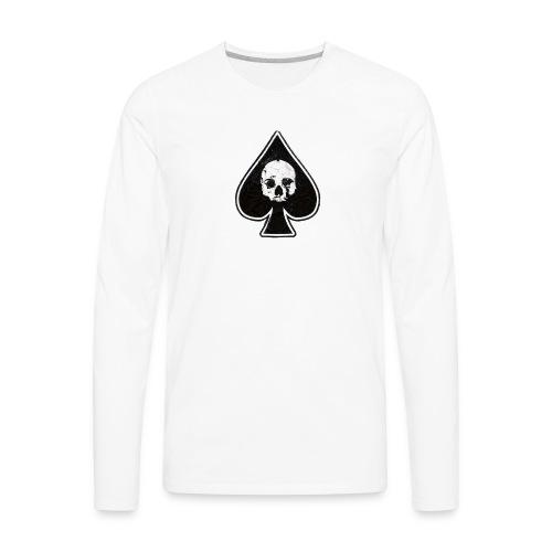 Ace of Spades skull rock - Men's Premium Long Sleeve T-Shirt