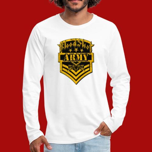 BloodShot ARMYLogo Gold /Black - Men's Premium Long Sleeve T-Shirt