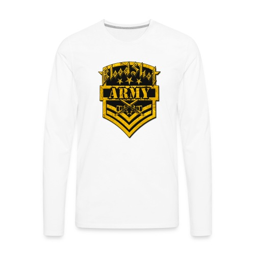 BloodShot ARMYLogo Gold /Black - Men's Premium Long Sleeve T-Shirt