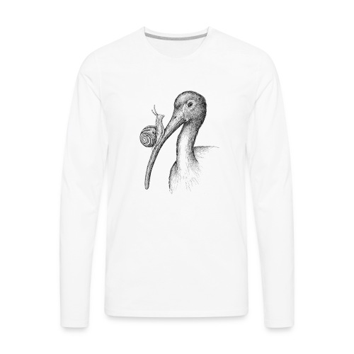 Ibis with Snail by Imoya Design - Men's Premium Long Sleeve T-Shirt