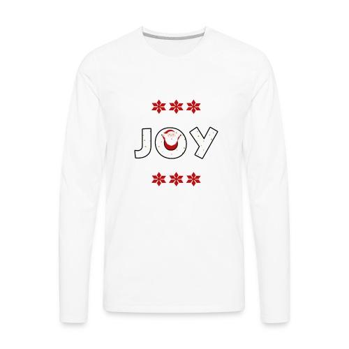 Christmas JOY Santa Clause Ugly Style - Men's Premium Long Sleeve T-Shirt