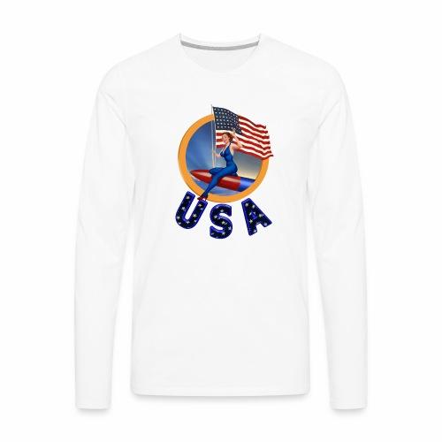 Flag USA - Men's Premium Long Sleeve T-Shirt