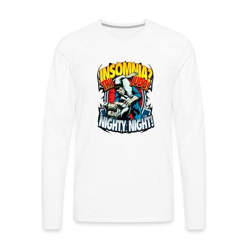 Insomnia Judo Design - Men's Premium Long Sleeve T-Shirt