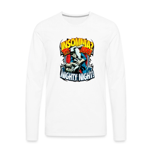 Judo Shirt - Insomnia Judo Design - Men's Premium Long Sleeve T-Shirt