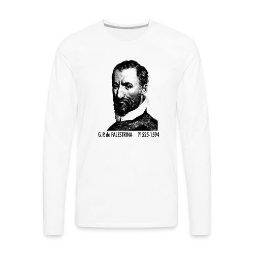 Giovanni Pierluigi da Palestrina Portrait - Men's Premium Long Sleeve T-Shirt