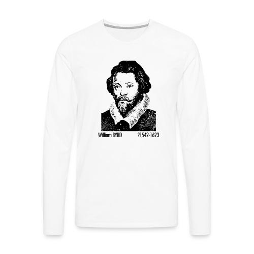 William Byrd Portrait - Men's Premium Long Sleeve T-Shirt